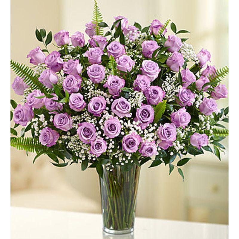 Rose Elegance Purple Roses Hillcroft Florist Luxury Flowers