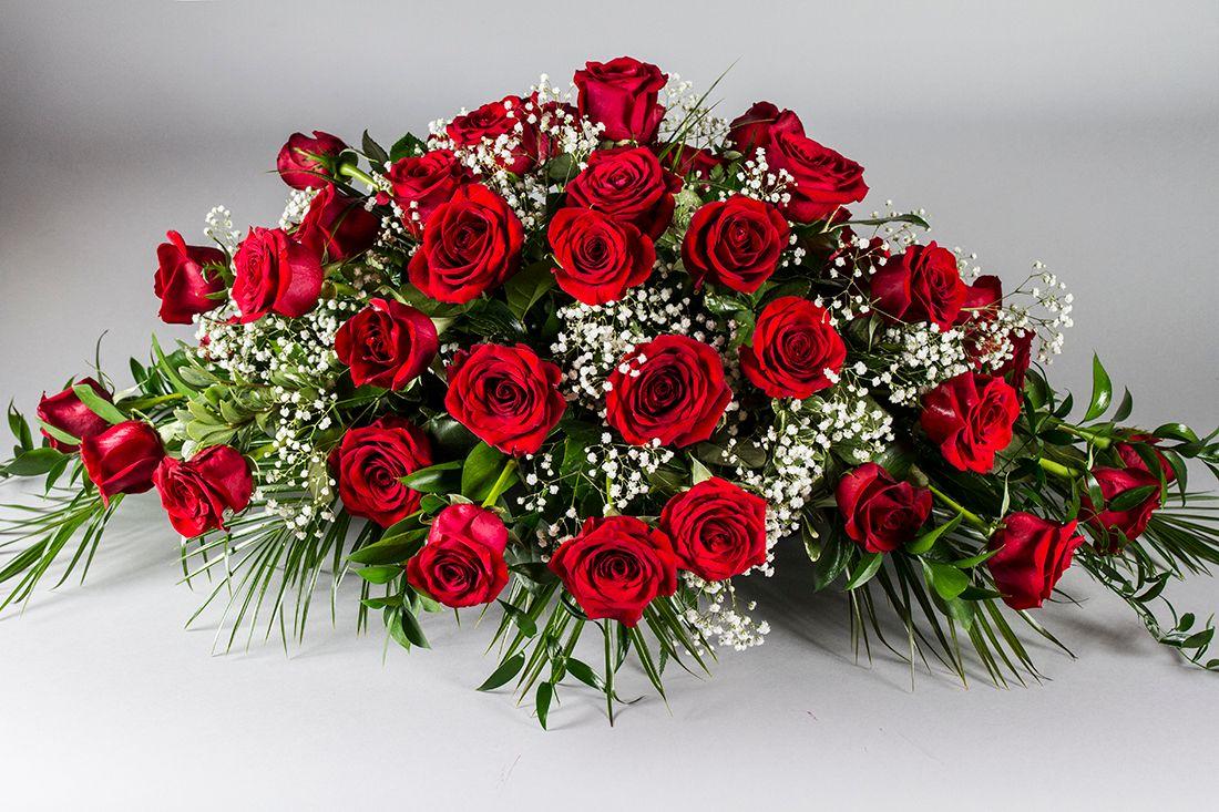 heavenly rose casket spray holton flowers, port hope and cobourg ontario
