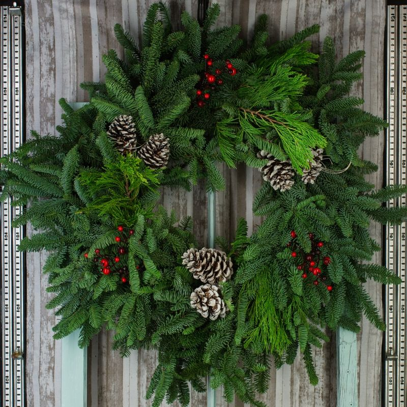 Fresh Christmas Wreath Soldotna florist - Kate\'s Flowers & Gifts