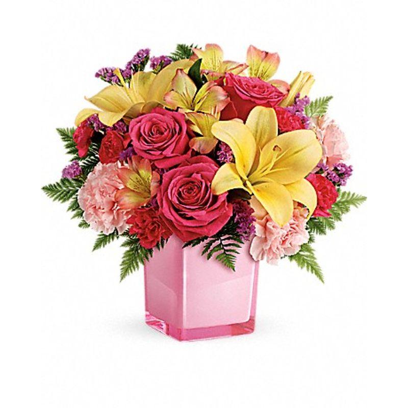 Pink lemonade tev45 3a lehi utah florist haws co flowers and more views mightylinksfo