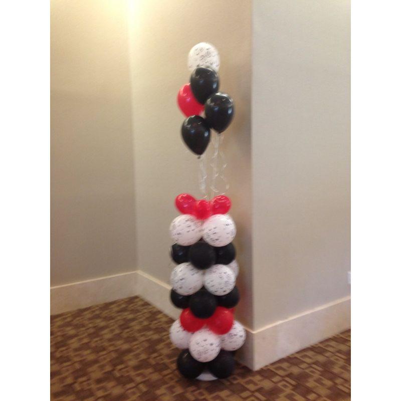 Column Of Balloons Hollywood Florist Li Flowers Local