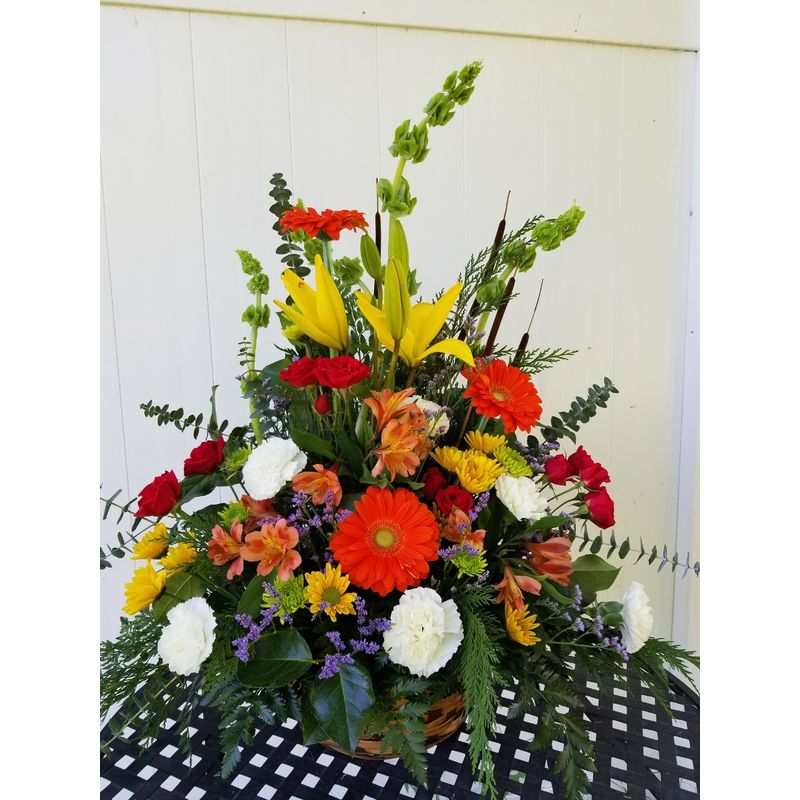 Red Mountain Basket Lighthouse Flower Shop