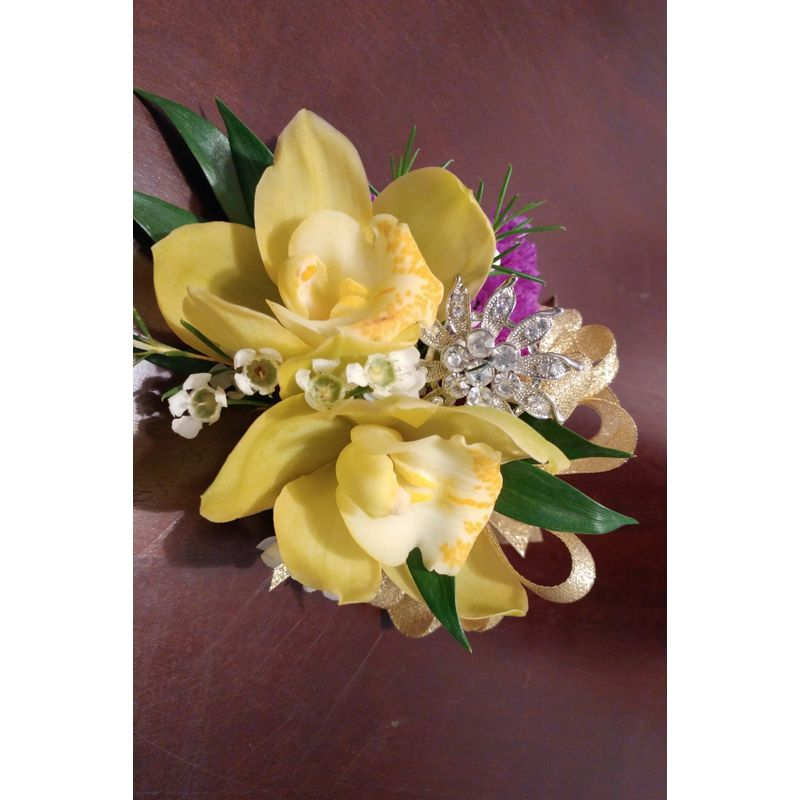 Orchid And Bling Corsage Lighthouse Flower Shop