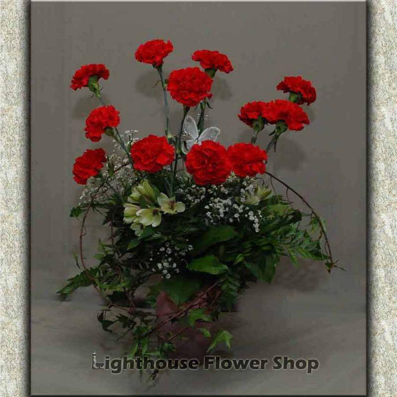 Garden Of Carnations Lighthouse Flower Shop