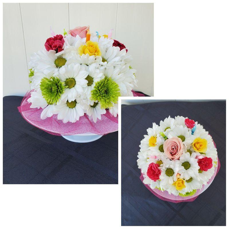 Astounding Blooming Birthday Cake Lighthouse Flower Shop Mesa Az Local Funny Birthday Cards Online Hendilapandamsfinfo