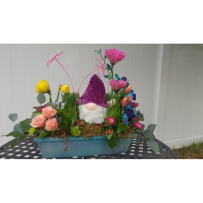 Guardian Of The Garden Lighthouse Flower Shop