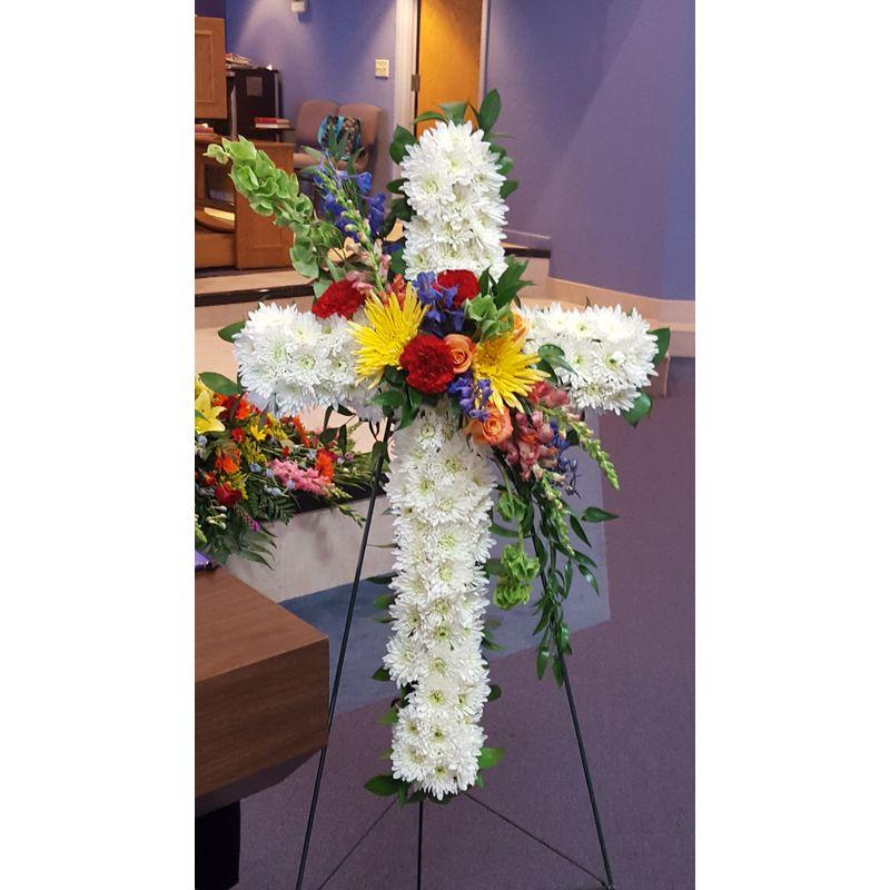 Divine Bright Color Cross Lighthouse Flower Shop
