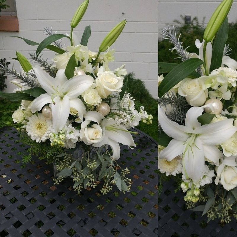 Sophisticated Style In White Lighthouse Flower Shop