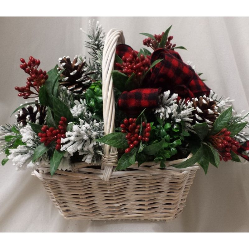 Silk christmas basket florists south paris me south paris me more views mightylinksfo