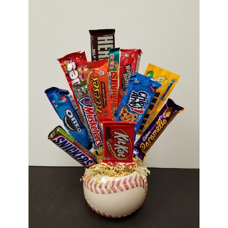Home Run Candy Bouquet - Local Delivery Only Lopshire Flowers - Fort ...