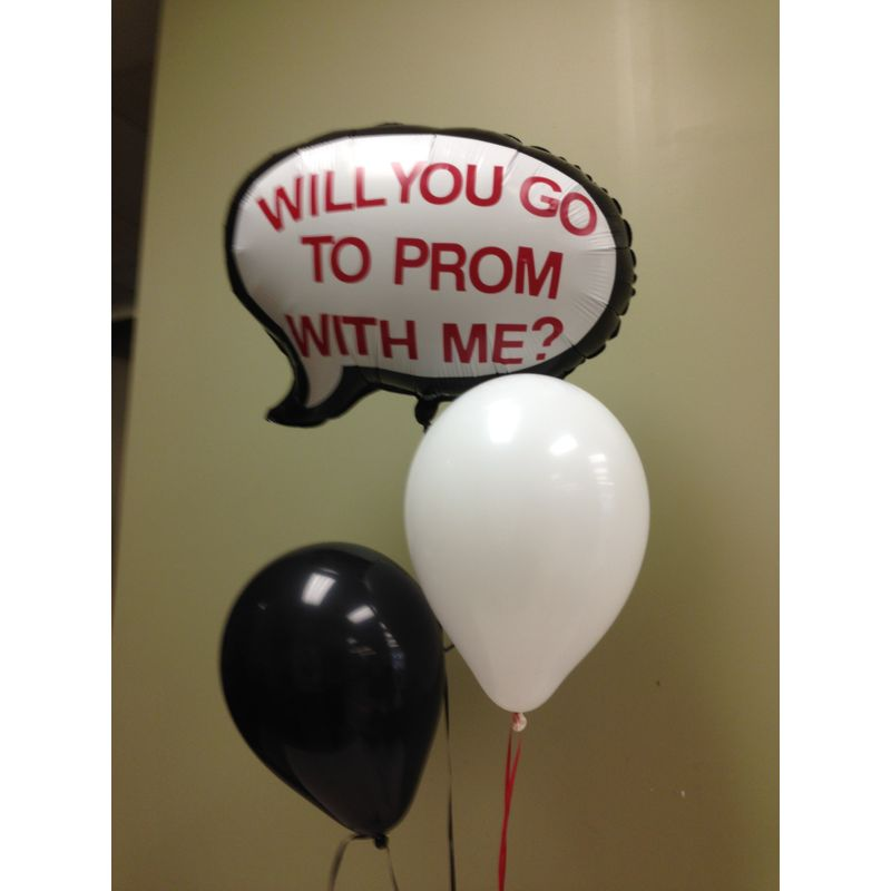 Promposal Balloons. Local Only Lopshire Flowers
