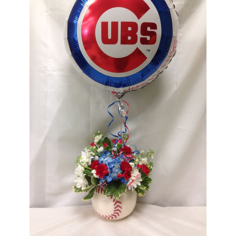 Go Cubs Go Local Delivery Only Lopshire Flowers Fort Wayne In