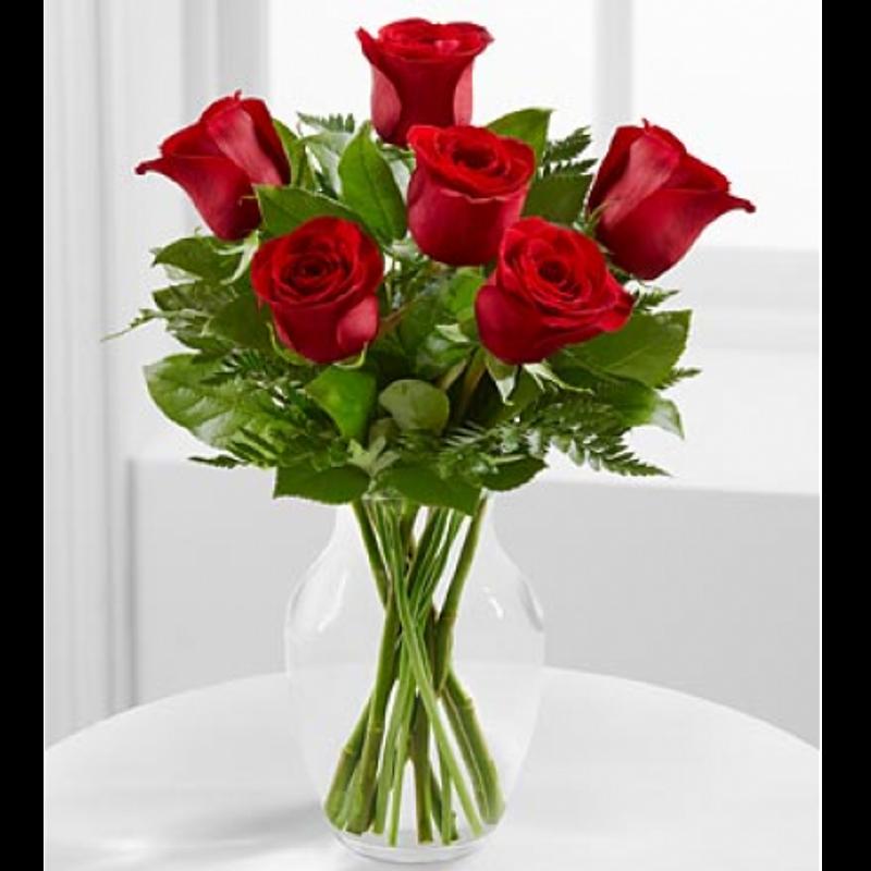Six Long Stem Red Roses Vancouver Wa Florist Since 1909 Luepke