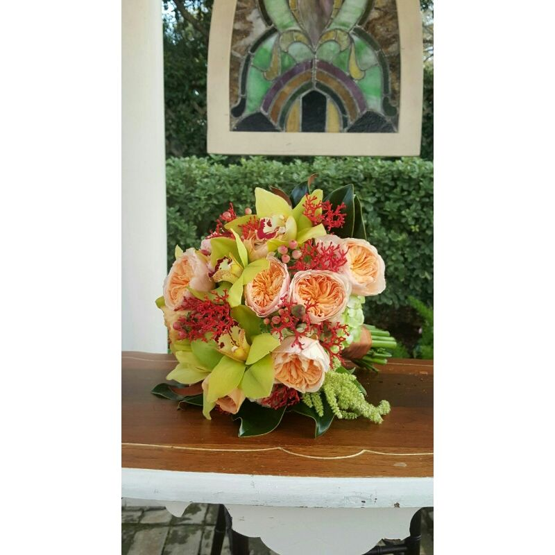 Orchid And Juliet Rose Bouquet Lush Flowers Houston Tx Local
