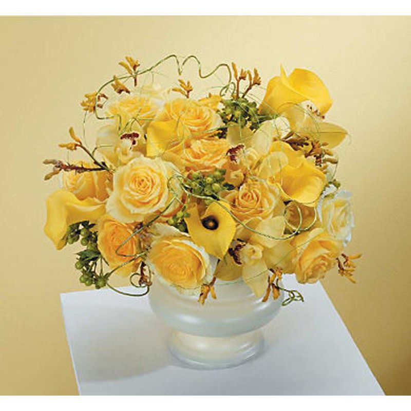 Bowl Of Yellow Lush Flowers -Houston, TX -Local Flower Shop