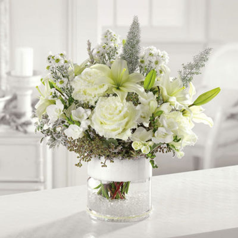 Snow Capped Glory Lush Flowers -Houston, TX -Local Flower Shop