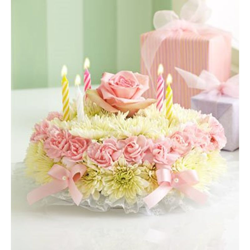 Excellent Birthday Flower Cake 49 99 69 99 Maryvilleflorist Flowers Funny Birthday Cards Online Eattedamsfinfo