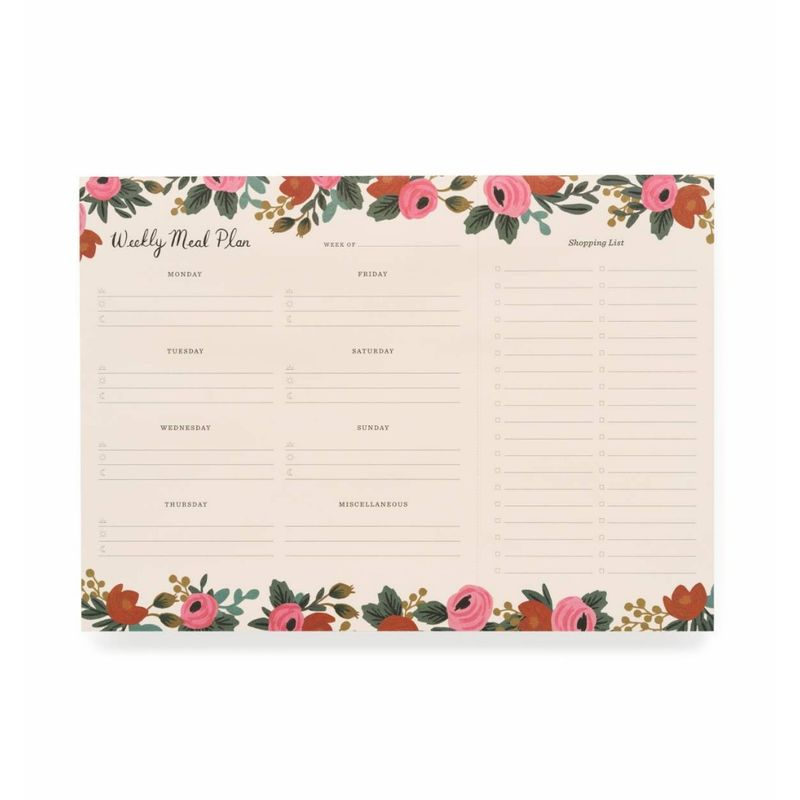 rifle paper co weekly meal plan mill s flowers and gifts mt
