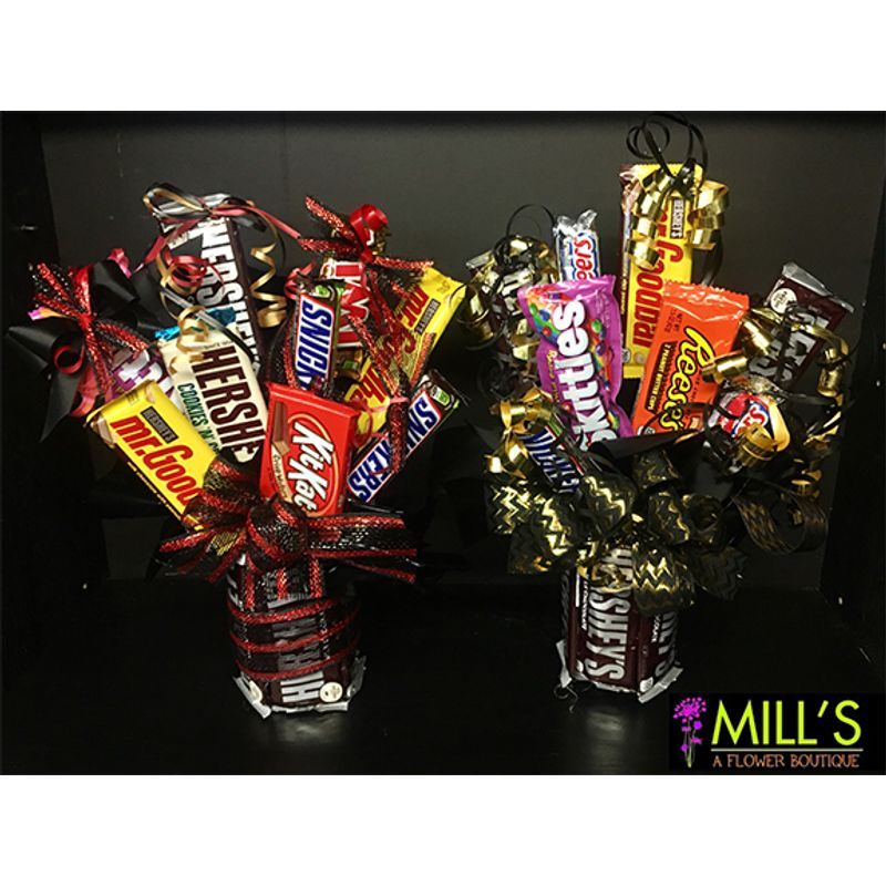 Chocolate Candy Bar Arrangement Mill\'s Flowers and Gifts - Mt ...
