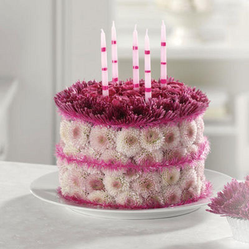 Blooming Birthday Cake Mf 32 Modern Florist Brooklyn Ny 11204