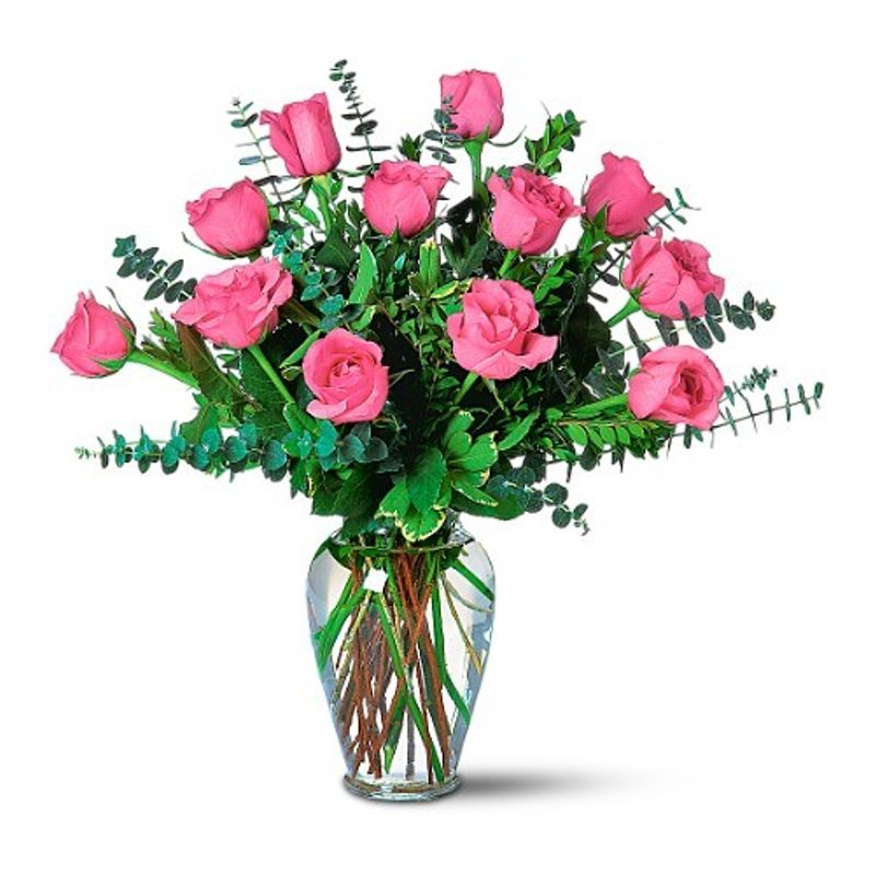 Lovely pink roses mums the word florist little falls nj local more views mightylinksfo