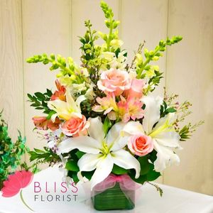 Pink and White Blooms #498 in Antelope CA, Bliss Florist