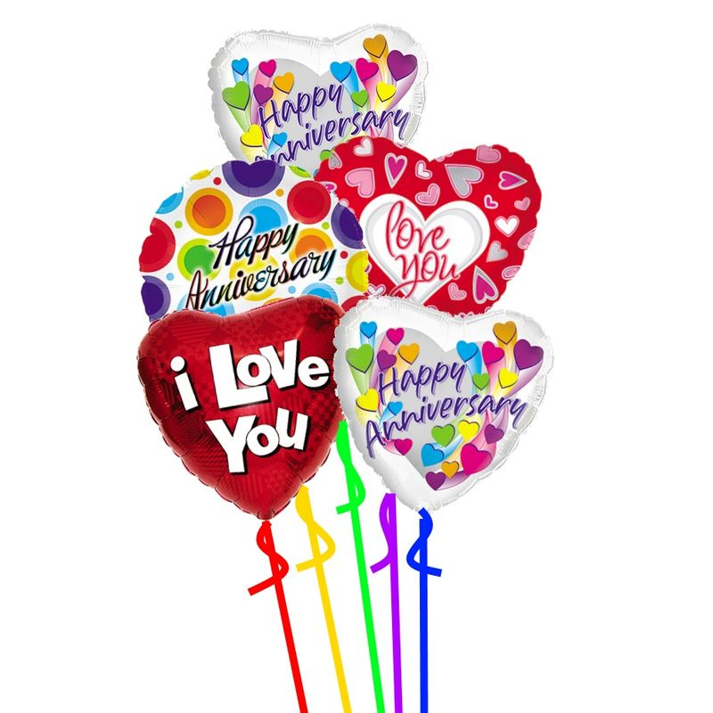 Happy Anniversary And I Love You Balloons Colorado Springs Florist