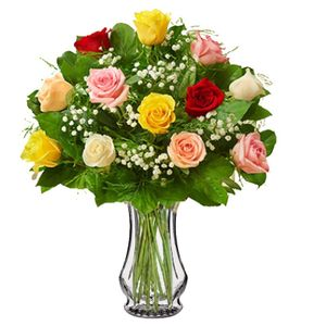 Colorado springs florist my floral shop colorado springs long stem mixed colors colors may vary in colorado springs colorado my floral mightylinksfo