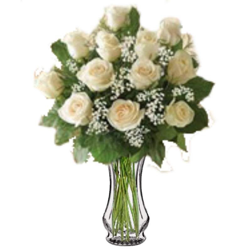 Long stem white roses colorado springs florist my floral shop more views mightylinksfo