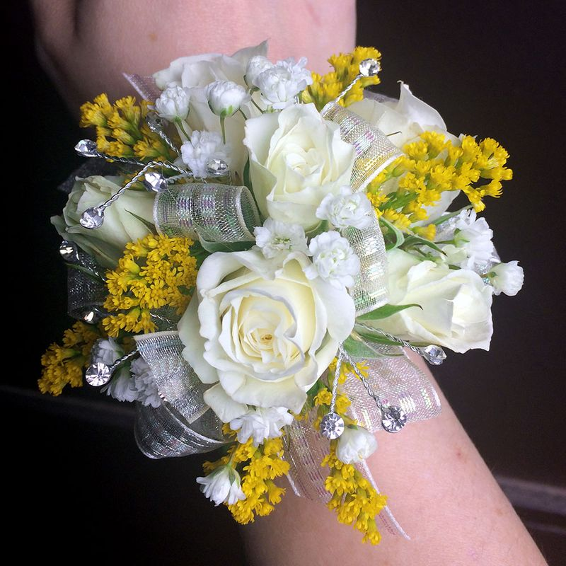 Yellow Accents Corsage Cleves Oh Florist Nature Nook