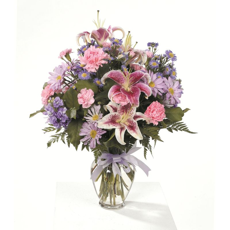 Stargazer Lily Vase Ctt61 22 Natures Treasures Florist Redford Mi