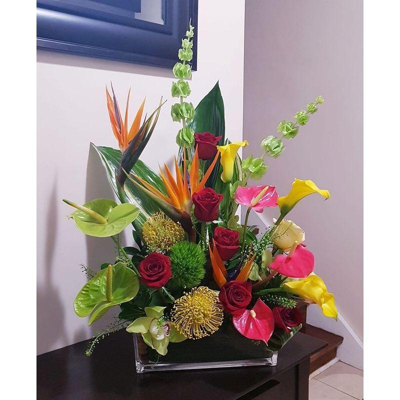 Tropical Floral Arrangement Etobicoke Florist Nelia S Floral Design Local Flower Delivery Etobicoke On M9w 2m9