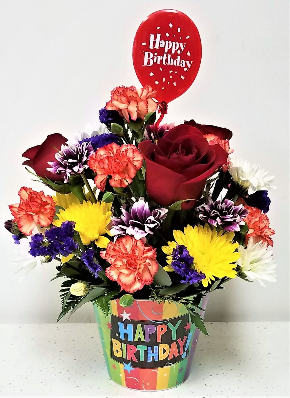 Birthday bouquet norman florist flower shop in flanders livingston izmirmasajfo