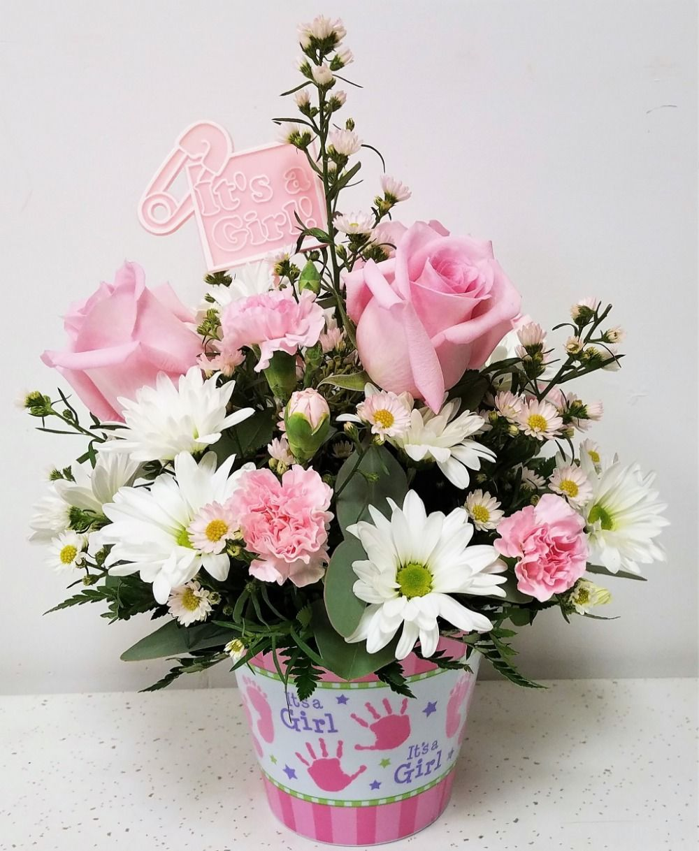 Baby Girl Bouquet Norman Florist Flower Shop In Flanders Livingston
