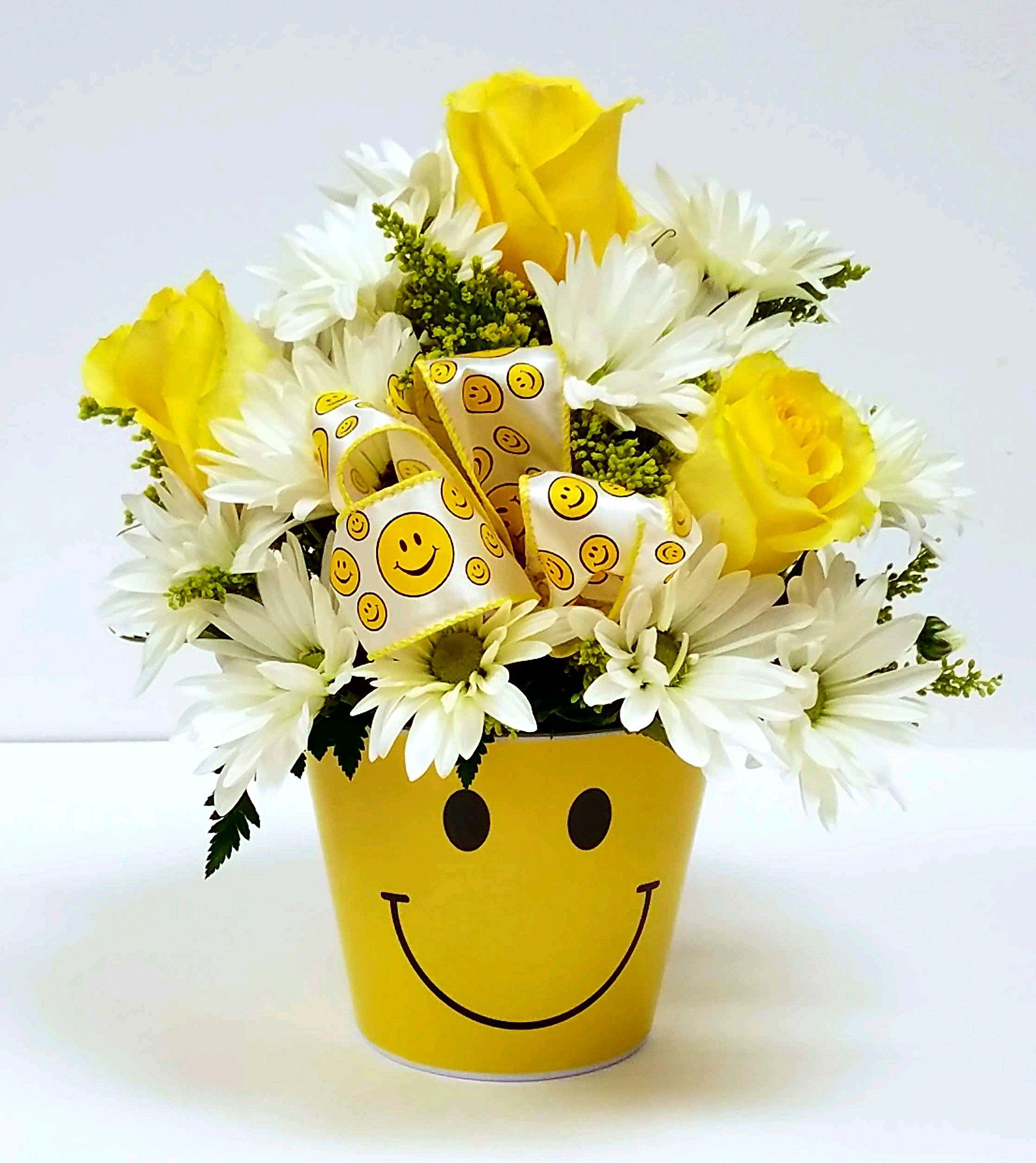 Smile face bouquet norman florist flower shop in flanders livingston izmirmasajfo