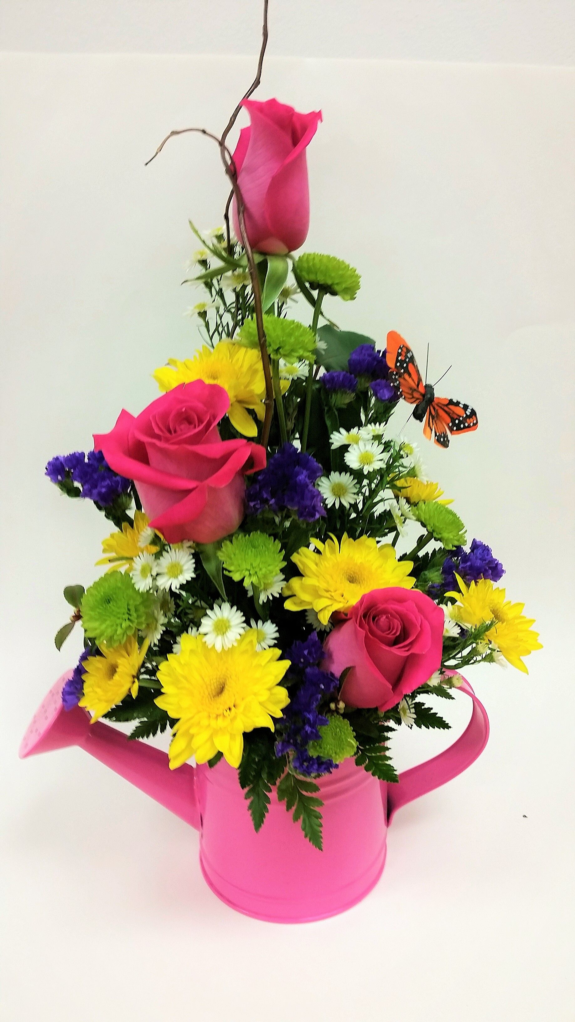 Watering Can Bouquet Norman Florist Flower Shop In Flanders Livingston