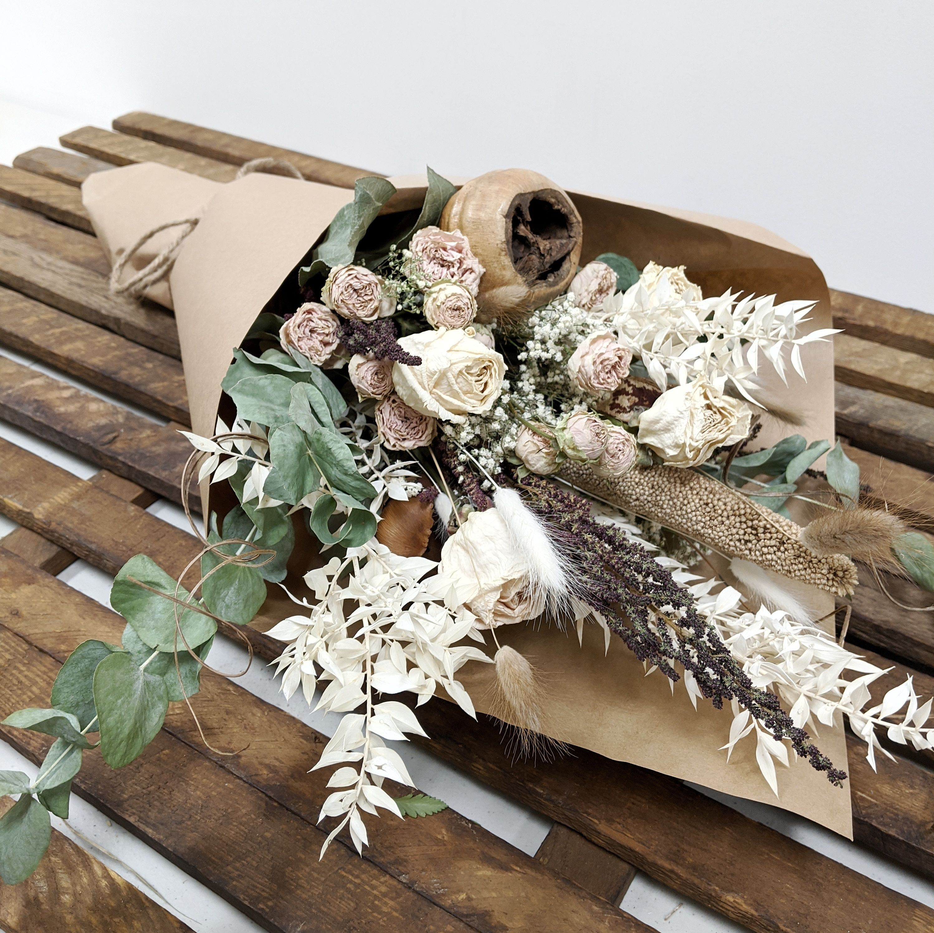 Large Neutral Dried Bouquet Goderich Florist Olive And Rose Flower Studio Local Flower Delivery Goderich On N7a 2k5