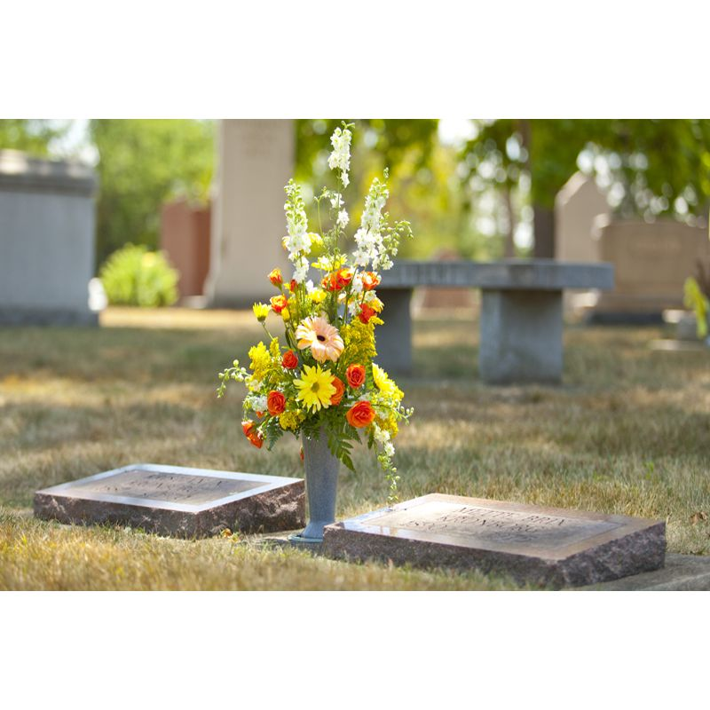 Cemetery Vase Open Air Designs Local Florist Clearwater Fl
