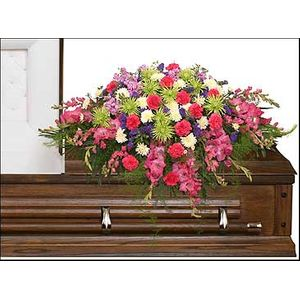 ETERNAL BEAUTY CASKET SPRAY in Hasbrouck Heights NJ, Bill O'Shea's Flowers