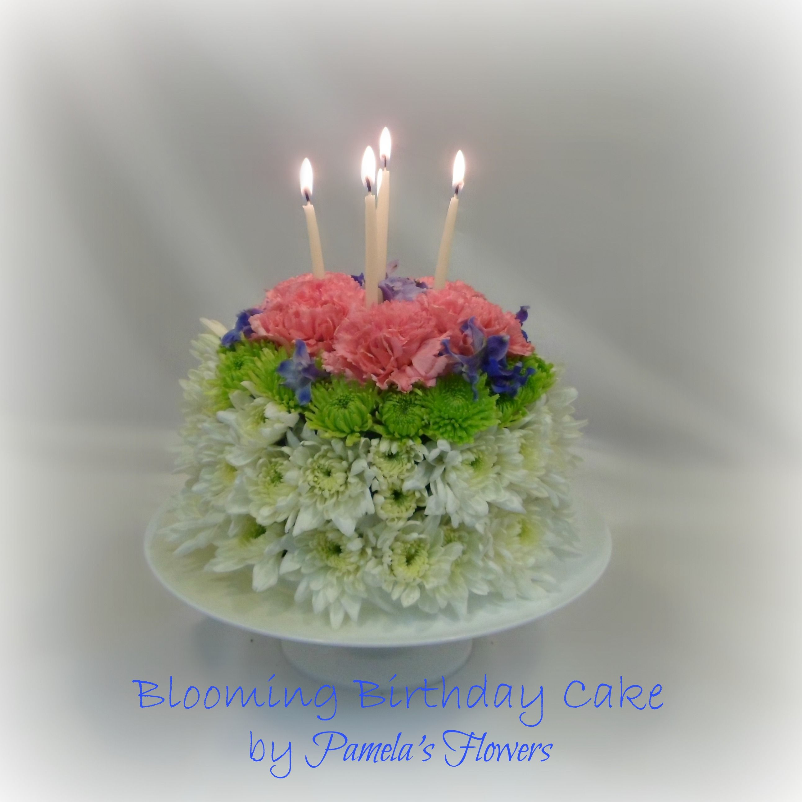 Blooming Birthday Cake Floral Arrangement Delivery in Harrisburg PA