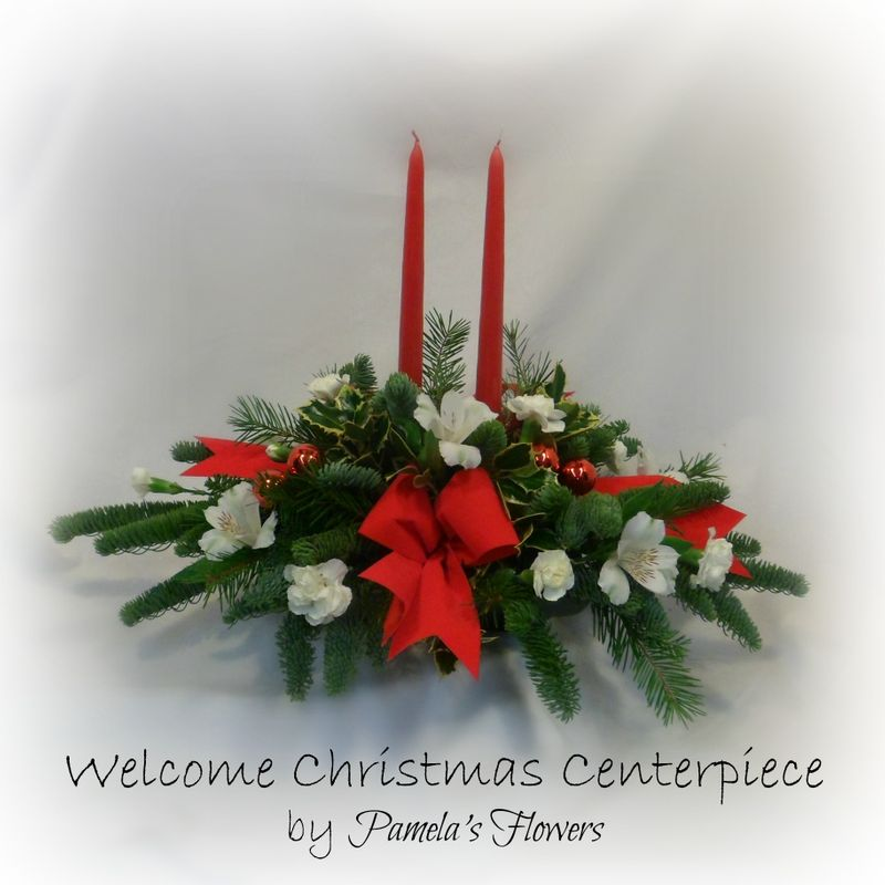 Welcome Christmas.Welcome Christmas Centerpiece Flower Delivery Services For