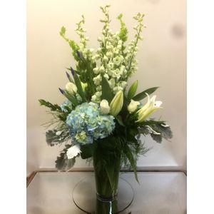 Blue Fanfare in Cohasset MA, Paul Douglas Floral Designs