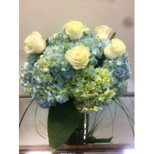 Blue Sophistication in Cohasset MA, Paul Douglas Floral Designs