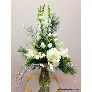 Winter Wonderland in Cohasset MA, Paul Douglas Floral Designs