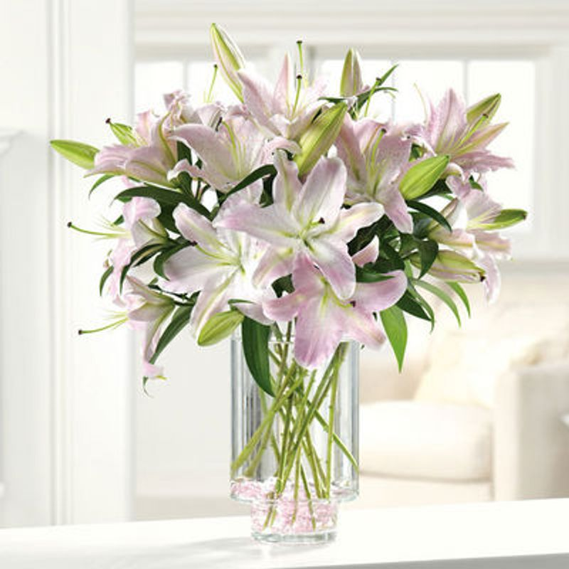 Pale Pink Lilies Petal Town Flowers Wine Country Weddings