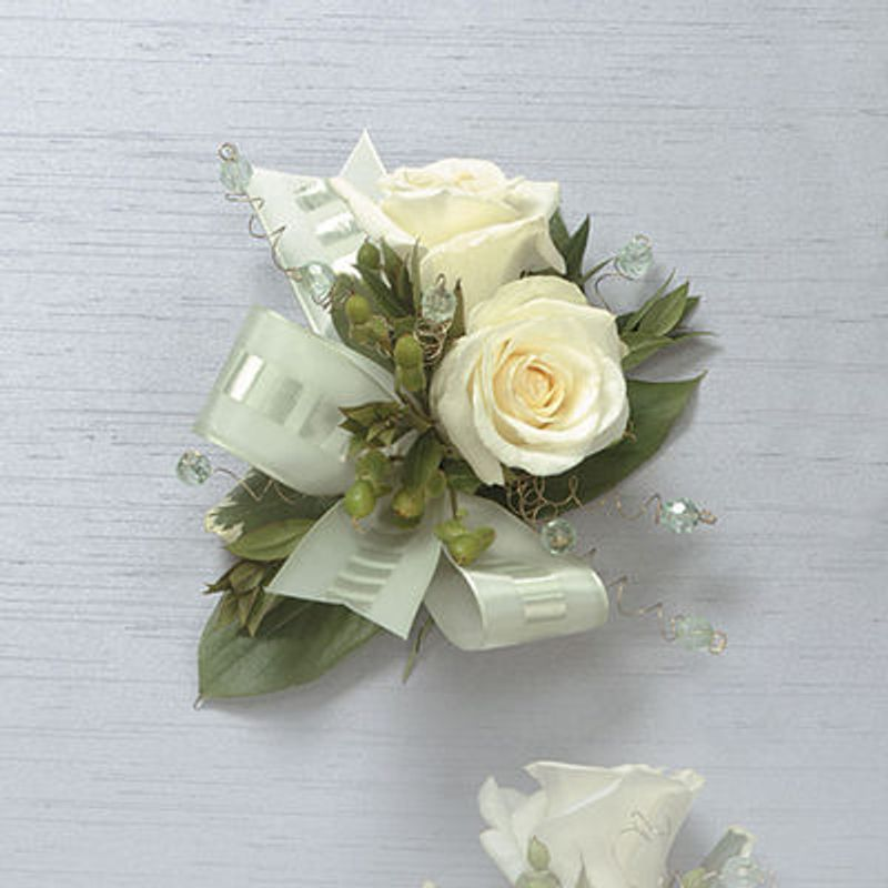 White rose corsage stittsville on k2s 1b8 florist pretty pots more views mightylinksfo