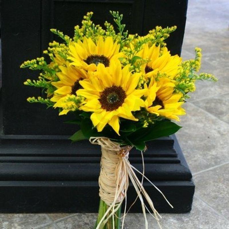 Sunflower Wedding Bouquet Ideas: Sunflower Wedding Bouquet River Grove IL Florist