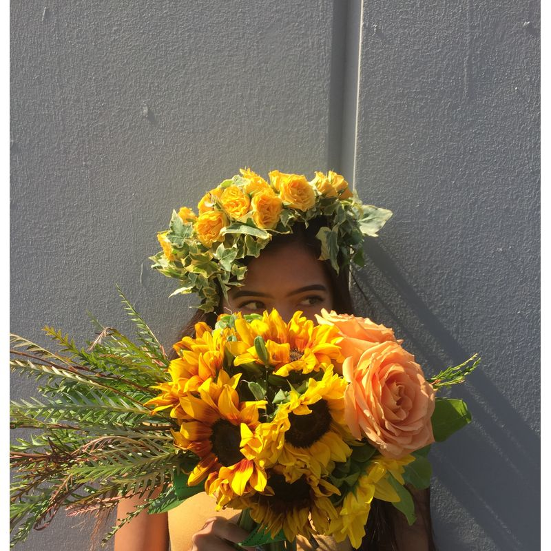 Yellow flower crown huntington beach florist flower delivery more views mightylinksfo