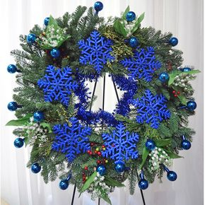 queens blue xmas in huntington beach ca queens flowers and gifts - Beach Christmas Wreath
