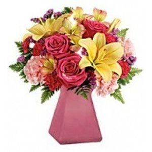 Blushing Bouquet in Buckeye AZ, Rapid Roses Flower Shop